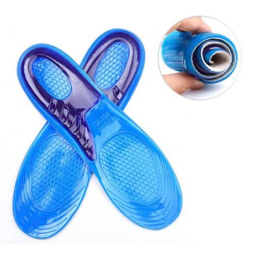 Silicone Gel Insoles Man Women Insoles orthopedic Massaging Shoe Inserts Shocks