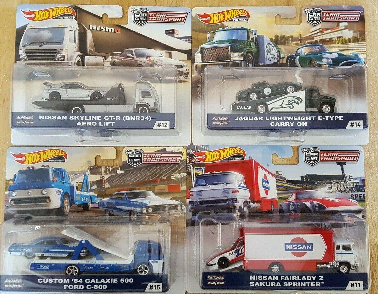 1 64 Hot Wheels Culture Team Transport Case Set of 4 Cars Diecast FLF56-956F