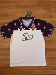 Details about Fiorentina Retro Lotto 92/93 Away White 7UP Jersey (Size Large)