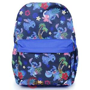 Black Lilo and Stitch 16 Inch Allover Print Laptop Backpack