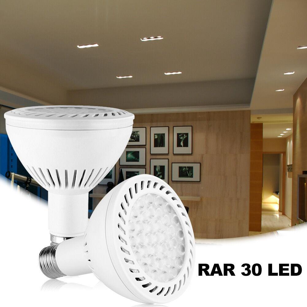 30x PAR30 LED Luz De Inundación Bombilla 350w reemplazo 36W E27 base mediana 3000K blancoo