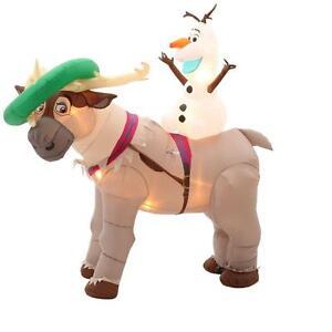 CHRISTMAS SANTA 7 FT FROZEN OLAF SVEN DISNEY AIRBLOWN INFLATABLE ...