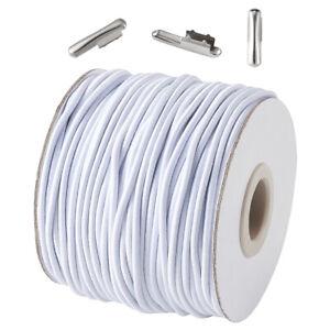 Diy Kit Round Elastic Cord And Iron Half Cover Crimp End Caps