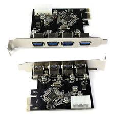 Último 4 puertos USB 3.0 a PCI-e tarjeta Express Expansión Adaptador Via 5GBPS