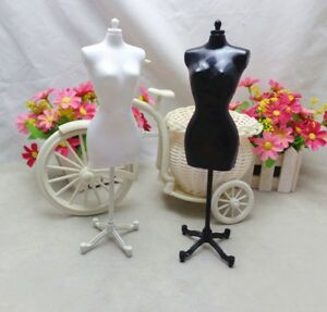 2pcs/lot Display Holder Dress Clothes Gown Mannequin Model Stand For Barbie Doll