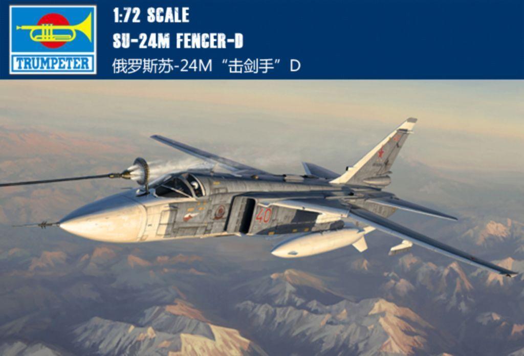 ◆ Trumpter 1 72 01673 Su-24M Fencer-D model kit