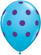 "10pc -11"" Qualatex Big Polka Dot Blue Purple Latex Balloon Party Decoration Luau"