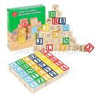 30pc Wooden ABC 123 Building Blocks Kids Alphabet Letters Numbers Bricks Toy Set