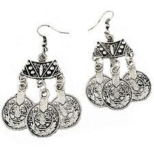 Tibetan Coin Earrings Boho Bohemian Ethnic Gypsy Mystic Jewellery Gift A191
