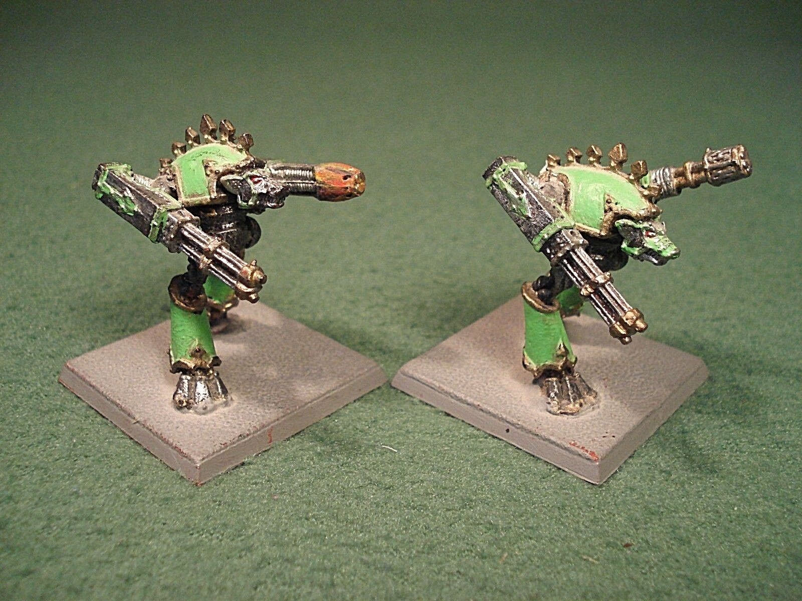 Warhammer 40000 Epic - Warhound Scout Titans x2 - Games Workshop Metal Models