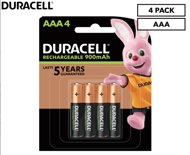 Duracell Rechargeable Batteries AAA 900 mAh  New & Sealed