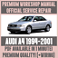 *WORKSHOP MANUAL SERVICE /& REPAIR GUIDE for AUDI A4 1994-2001 WIRING