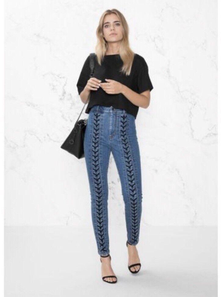 & Other Stories Lace Up Jeans Denim Sz 24