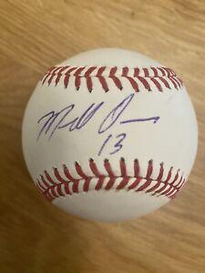 Marcell Ozuna Atlanta Braves Sweet Spot Signed MLB Baseball JSA Authenticated