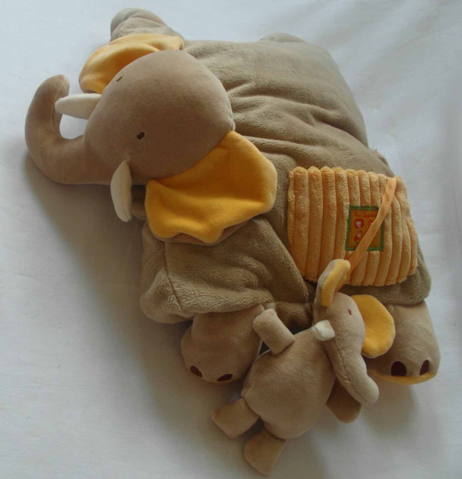 Elephant with Baby - 2 in 1 Soft Cushion Cuddly Toy Baby Shower Birthday Toddler
