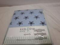 Kidsline Kids Line Sports Crib Fitted Sheet Blue Stars Nip