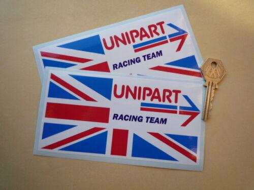 BRITISH LEYLAND UNIPART  Racing Team 150mm car stickers