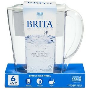 brita water filter pitcher. Image Is Loading Brita-Space-Saver-48-oz-Water-Filter-Pitcher- Brita Water Filter Pitcher