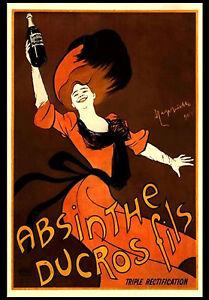 A3-Absinthe-Ducros-Fils-Lady-Retro-Vintage-Alcohol-Bar-Pub-Wall-Poster-34
