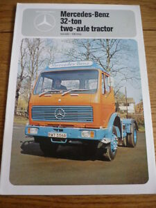 Details about MERCEDES BENZ 32 TON 2 AXLE TRACTOR TRUCK LORRY COMMERCIAL  BROCHURE