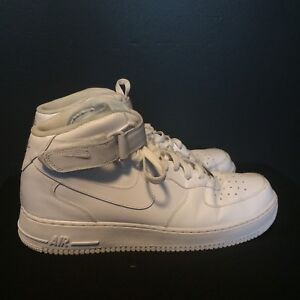 Nike Air Force 1 AF1 Mid TRIPLE ALL WHITE ORIGINAL 315123-111 sz 13 ... 46ef464d0