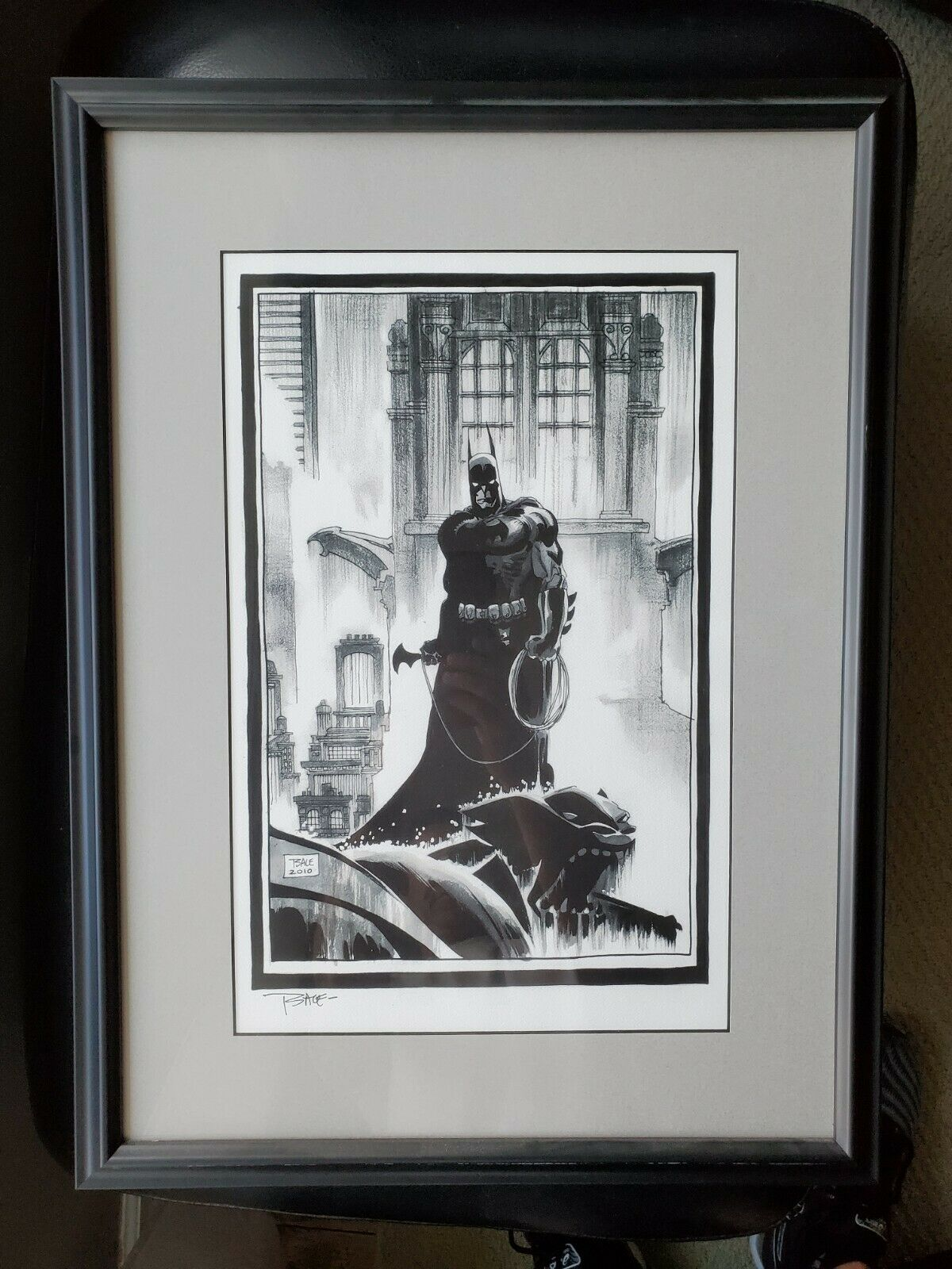 Tim Sale SIGNED Professionally Matted and Framed Batman Print 2010  on eBay thumbnail