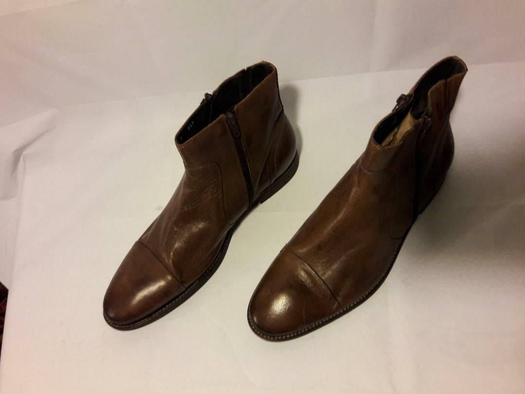 Bacco Bucci Men's Seppi Boot Brown Leather SZ US 13 MSRP 295  Made in ITALY