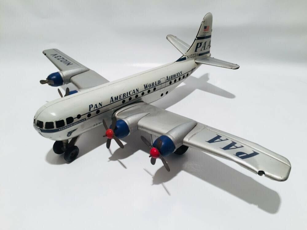 "Altes GAMA Flugzeug-Model aus Blech ""Pan Am"" Friktionsantrieb"