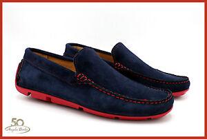 Mocassini-da-Uomo-estivi-in-Vera-Pelle-Camoscio-Mocassino-scarpe-made-in-Italy