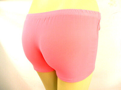 Gewidmet New Womens Ladies Girls Stretch Shorts Hot Pants Dance Uv Neon Retro Party 80's AusgewäHltes Material