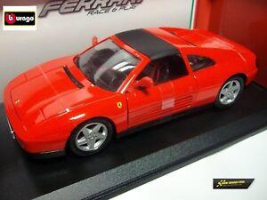 Bburago-Ferrari-348ts-Rot-1-18-Die-Cast-16006R