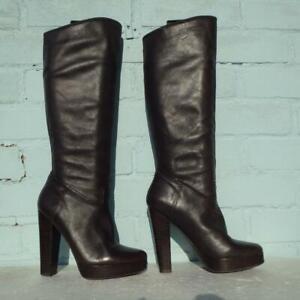 Eur Uk Boots Aldo Size Ladies Pull 3 Womens Brown Leather 36 Platform On qUwFwX