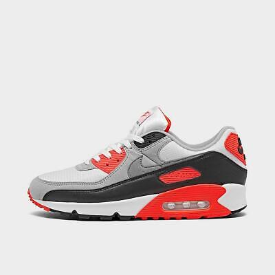 Details about Nike Air Max 90 Infrared 2020 Grey Radiant Red AM90 CT1685-100 Men 9