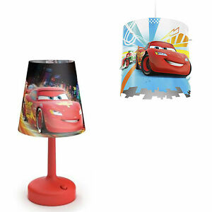 Philips-Disney-Cars-Kids-Table-Lamp-with-Shade-and-Ceiling-Light-Lampshade-Only