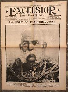 N172-La-Une-Du-Journal-Excelsior-23-Novembre-1916