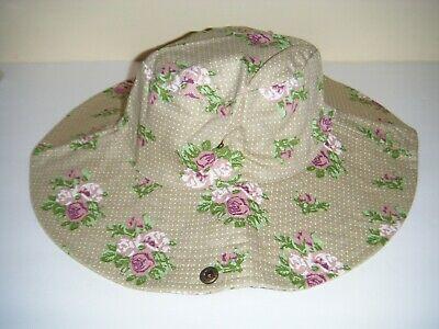 Denim Wide Brim Sun Beach Hiking Gardening Bush Outdoor Hat by Garden Girl