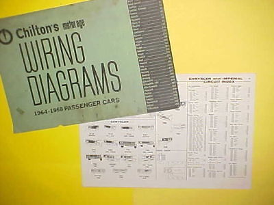 1964 1965 1966 1967 1968 Chrysler Imperial Crown Newport 300 K L Wiring Diagrams Ebay