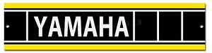 "BIKES YAMAHA YELLOW AND BLACK  MOTORCYCLE METAL SIGN 12/"" X 3/"" RACING"