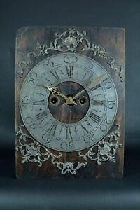 Rare-Pendule-ancienne-Mouvement-horloge-d-039-epoque-18-eme-antique-clock