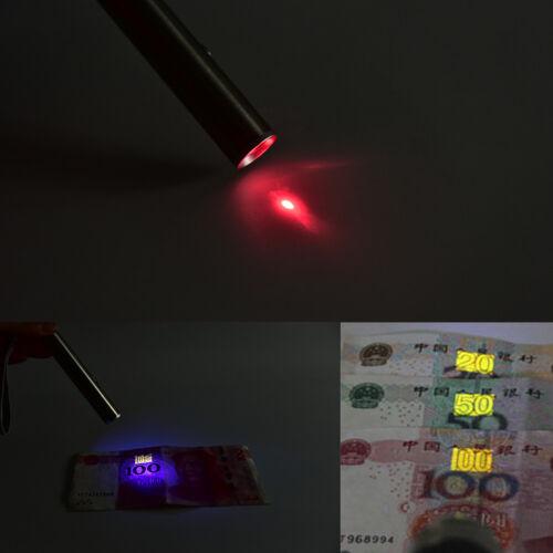 3 in 1 led taschenlampe uv licht rot laser mond anweisung licht notfall lampe  ^
