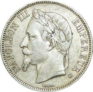AA403-France-5-Francs-Napoleon-III-1869-BB-Strasbourg-Argent-Silver
