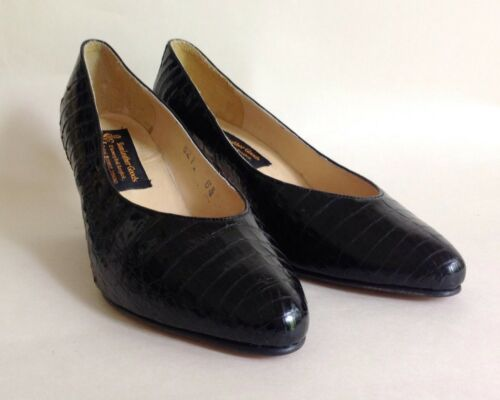 5 Uk Vintage Court 5 Us Mid 4 Croc Heel Scarpe 1980s Moc Siam 6 Leather Goods Txwq7vH