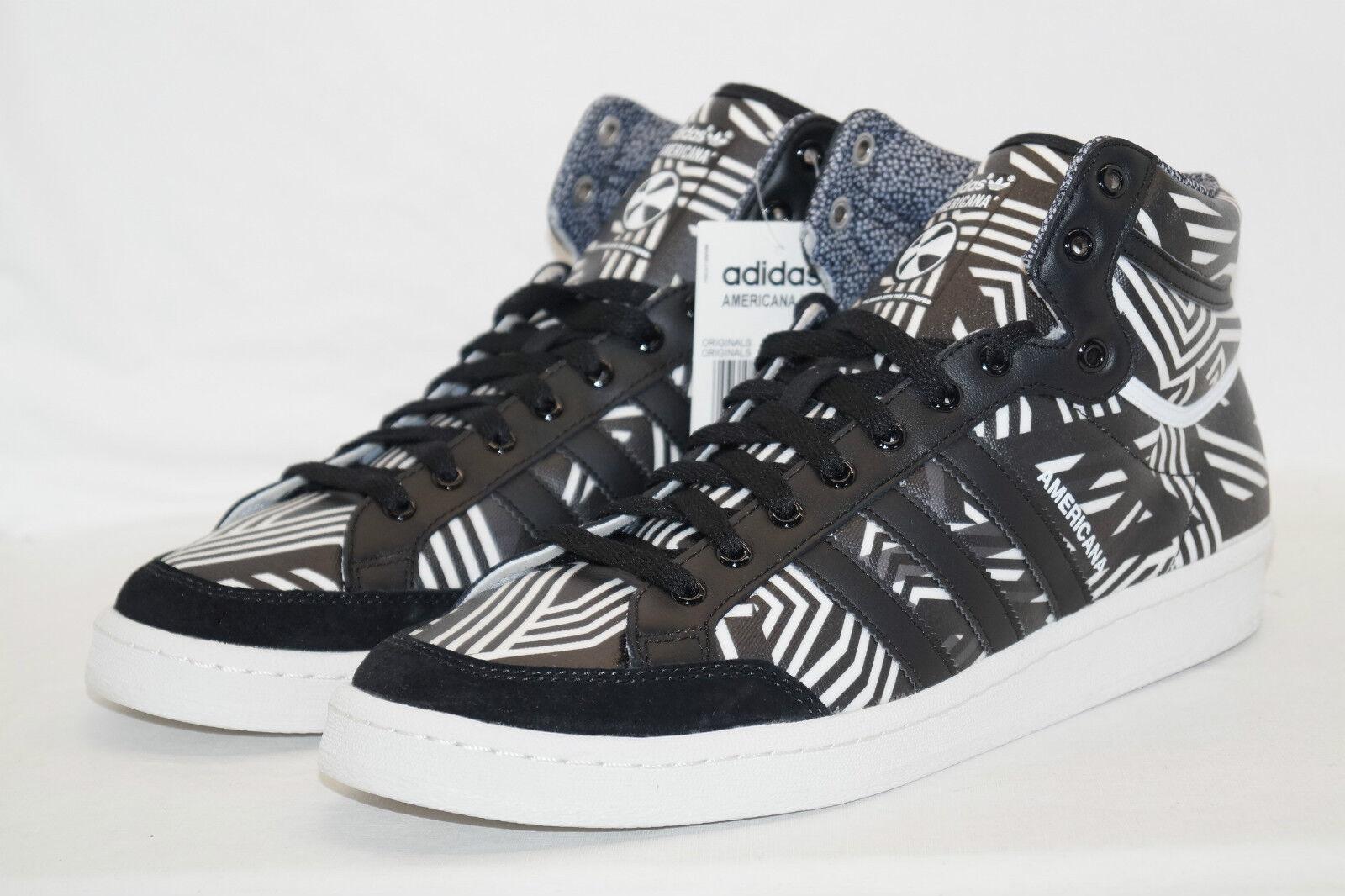 Adidas originals AMERICANA HI 88 Gr.40 2 3 UK 7 black weiss Basketball B-Ball