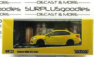 Tarmac-Works-1-64-2019-Hobby64-Sunrise-Yellow-SUBARU-WRX-STi-S207-w-NBR-Package