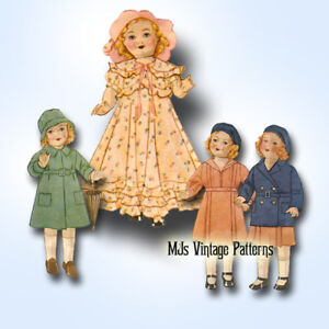 """Composition Vintage Patsy Skippy Doll Clothes Pattern ~ 13/"""" 14/"""" Shirley Temple"""