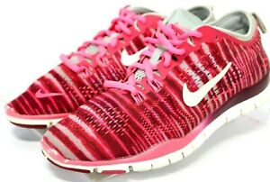 Nike-Free-5-0-Tr-Fit-4-100-Women-039-s-Running-Shoes-Size-6-5-Hot-Pink-Gray