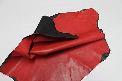 Italian thin Goatskin leather hide hides skin skins FIRM RED 4sqf