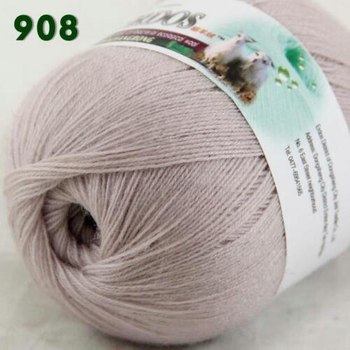 Sale New 1Skeinx50gr Soft Acrylic Wool Cashmere Hand Knit Shawl Crochet Yarn 08