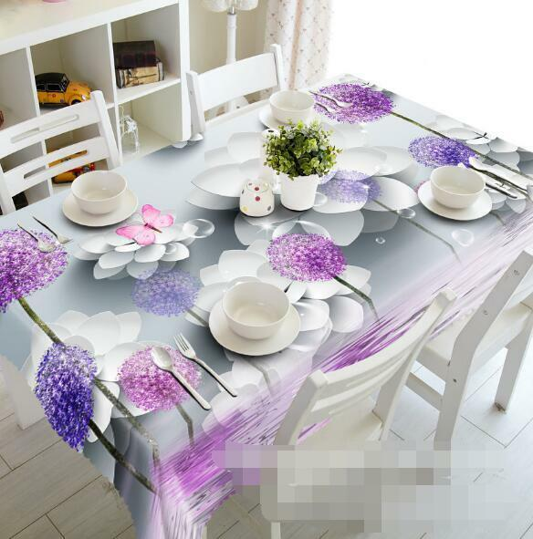 3D Flowers 956 Tablecloth Table Cover Cloth Birthday Party Event AJ WALLPAPER AU