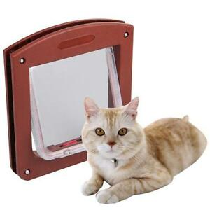 Mini-Coffe-Door-4-Way-Locking-for-Cat-Pet-Kitty-Small-Dog-Puppy-Flap-Home